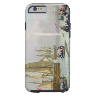 Boats Approaching a Whale, engraved by Matthew Dub Tough iPhone 6 Case