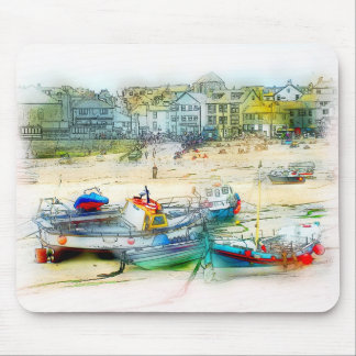 BOATS AS A PAINTING MOUSE PAD