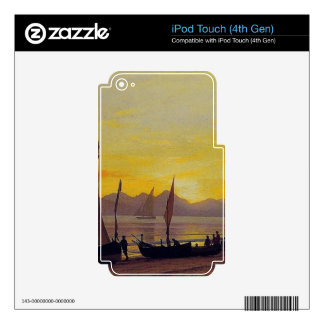 Boats Ashore at Sunset, Albert Bierstadt. Decals For iPod Touch 4G