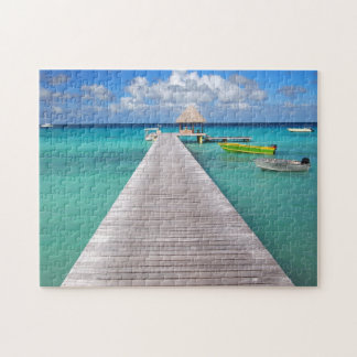Boats at a jetty in the Pacific jigsaw puzzle