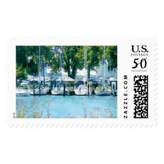 Boats At Belle Isle Postage