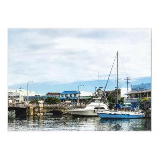Boats at Bridgetown Barbados Card