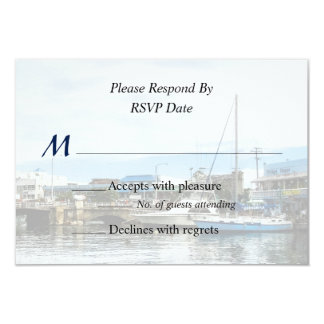 Boats at Bridgetown Barbados Wedding Products Card