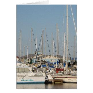 Boats at Dock Card
