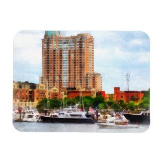 Boats at Inner Harbor Baltimore MD Rectangular Magnet