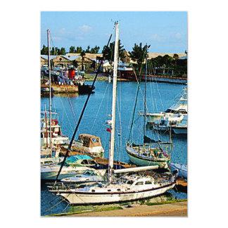 Boats at King's Wharf Bermuda Card