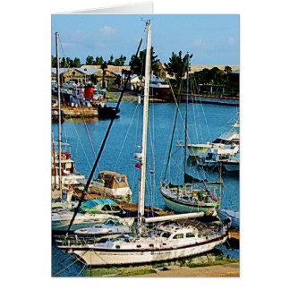 Boats at King's Wharf, Bermuda Card