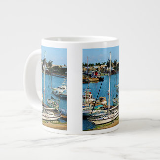 Boats at King's Wharf Bermuda Giant Coffee Mug