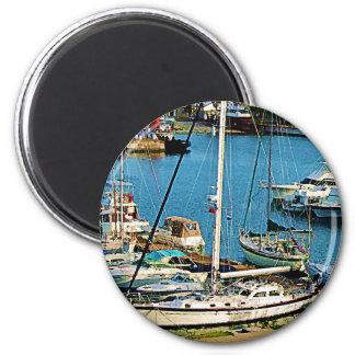 Boats at King's Wharf, Bermuda Magnets