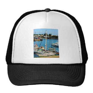 Boats at King's Wharf, Bermuda Trucker Hat