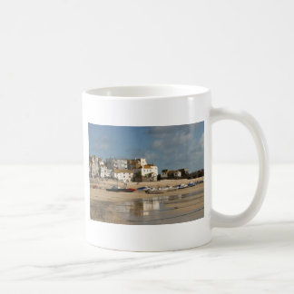 Boats at Low Tide, St Ives Harbour Coffee Mug