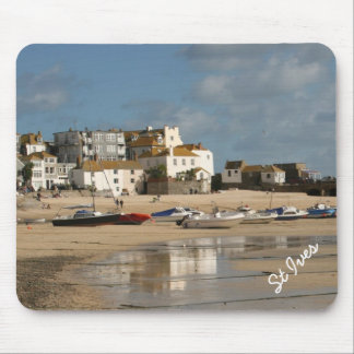 Boats at Low Tide, St Ives Harbour Mousepad Mouse Pad