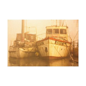Art Themed Boats at Lydney Harbour Canvas Print