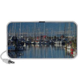 Boats at Nelson Marina 3 Laptop Speakers