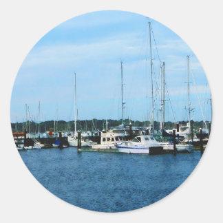 Boats at Newport RI Classic Round Sticker