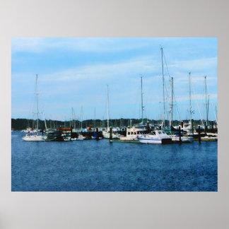 Boats at Newport RI Poster