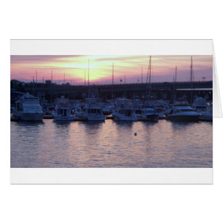 Boats at rest card