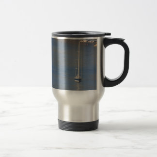 Boats at rest in Sorrento Italy 15 Oz Stainless Steel Travel Mug