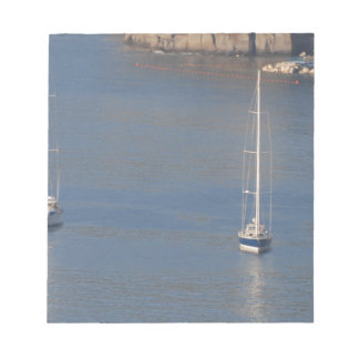Boats at rest in Sorrento Italy Notepad