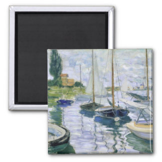 Boats At Rest 2 Inch Square Magnet