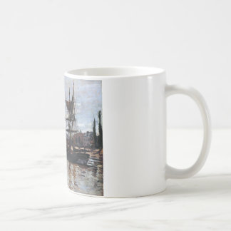 Boats at Rouen by Claude Monet Coffee Mug