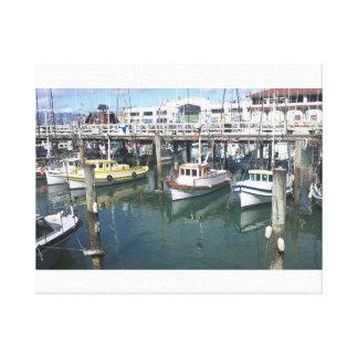 Boats at San Francisco Pier 39 Canvas Print