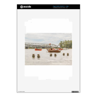 Boats at Santa Lucia River in Montevideo Uruguay iPad 2 Skins