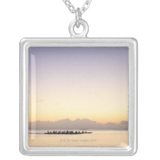 Boats at Sea Silver Plated Necklace