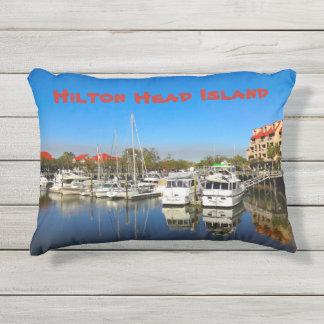 Boats at Shelter Cove Marina Hilton Head Island SC Outdoor Pillow
