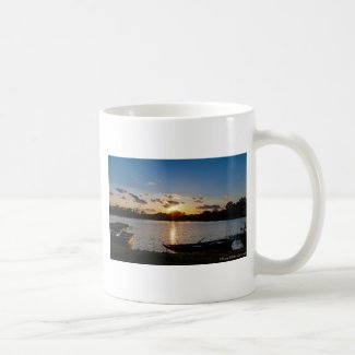 Boats at Sunset Coffee Mug
