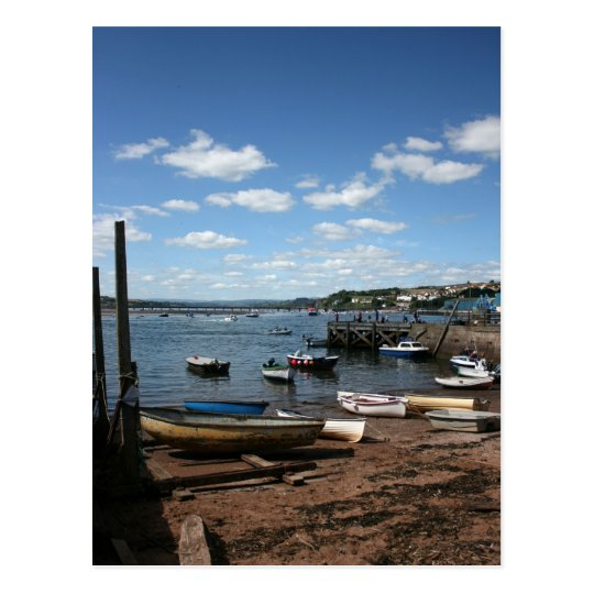 Boats at Teignmouth  Devon UK Postcard