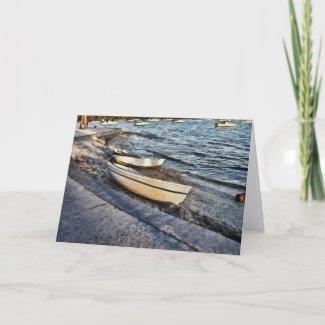 Boats At The Bay Card