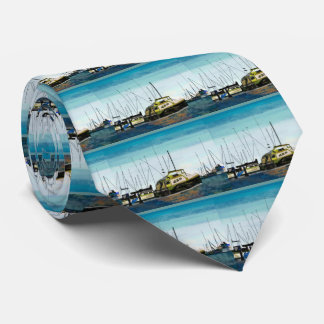 Boats at the Harbor Tie