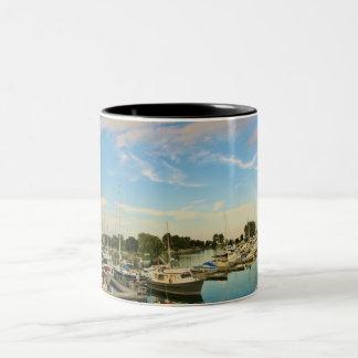 Boats at the Marina 4 Two-Tone Coffee Mug
