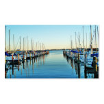 Boats At The Marina Double-Sided Standard Business Cards (Pack Of 100)