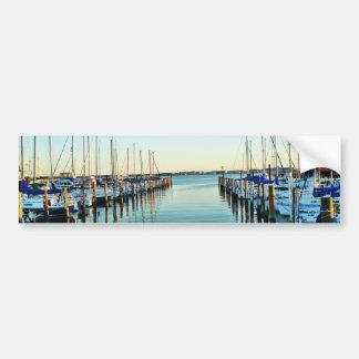 Boats At The Marina by Shirley Taylor Bumper Sticker