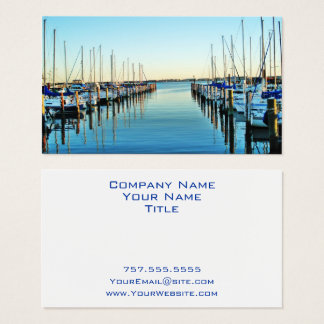 Boats At The Marina by Shirley Taylor Business Card
