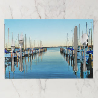 Boats at the Marina by Shirley Taylor Paper Placemat