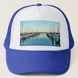 Boats At The Marina by Shirley Taylor Trucker Hat