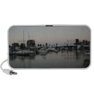 Boats at the Marina Travelling Speakers