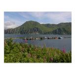 Boats at the spit in Dutch Harbor, Alaska Postcard