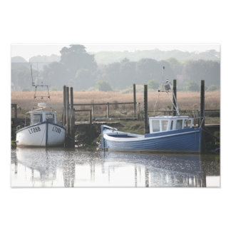 BOATS AT THORNHAM-NORFOLK PHOTOGRAPHIC PRINT