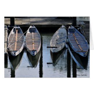 Boats Awaiting for You Blank Customizable Card