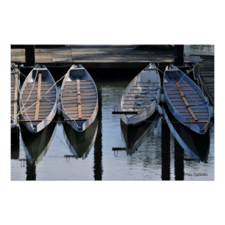 Boats Awaiting for You Poster