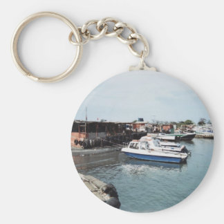 Boats Basic Round Button Keychain