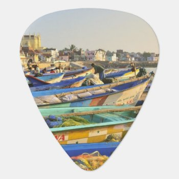 Boats Being Readied For Fishing  The Church Of Guitar Pick by DanitaDelimont at Zazzle