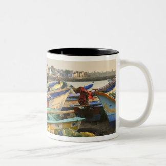 Boats being readied for fishing, The Church of Two-Tone Coffee Mug