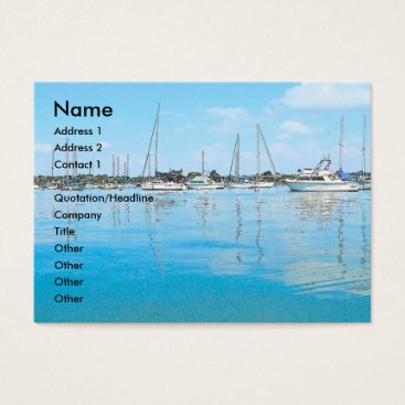 Beach Themed Boats Business Card