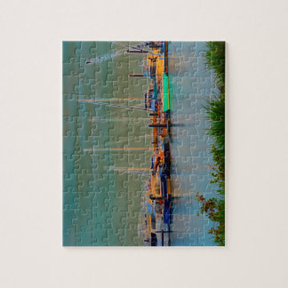 boats by dock surreal coloring florida jigsaw puzzle