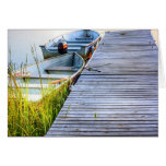 Boats by the Dock Greeting Cards